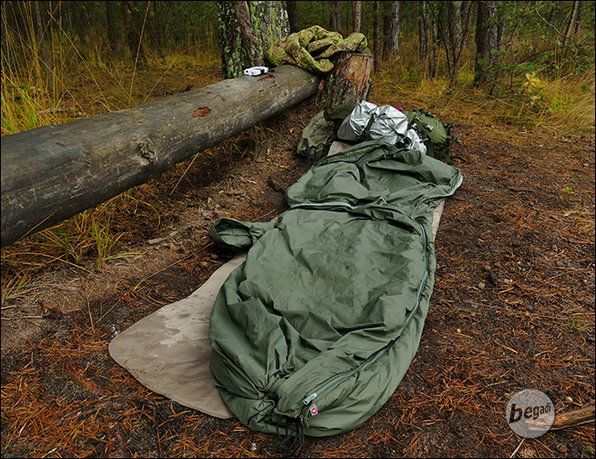 BE-X FronTier One Poncho Liner, sleeping bag function ...