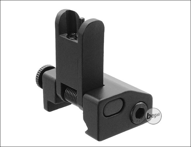 für alle 20mm Weaverschienen Begadi Einklappbares Airsoft Metall Front Sight