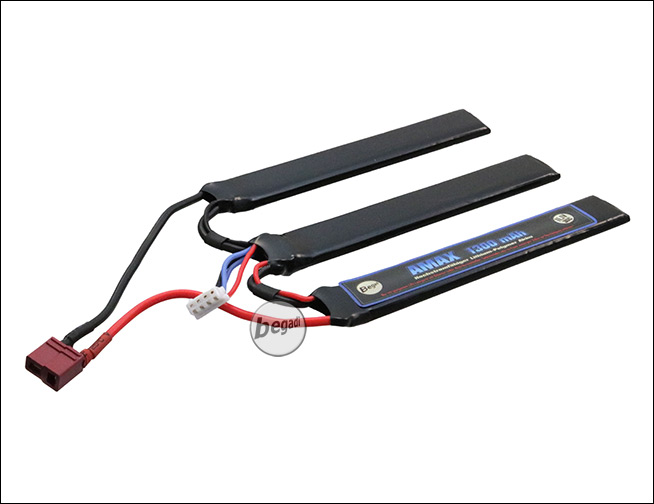 begadi amax lipo akku 11 1v 1300mah 30c triple stick mit. Black Bedroom Furniture Sets. Home Design Ideas