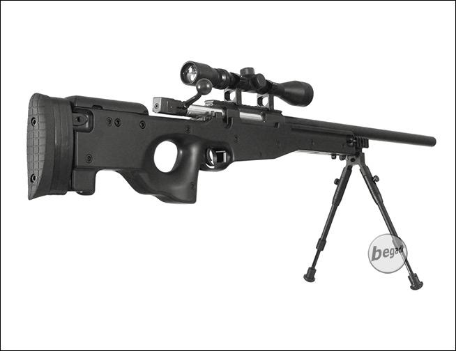 Well mb c sniper inkl zielfernrohr zweibein schwarz frei ab
