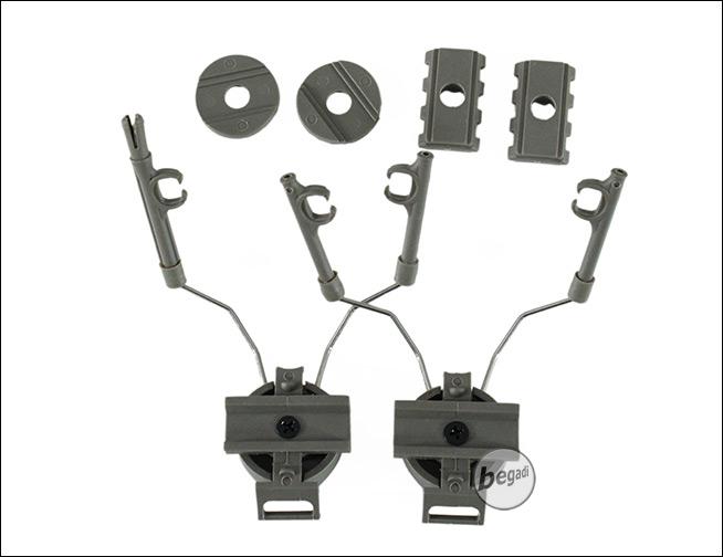 BEGADI Rail Adapter Set f/ür Fast Helme zur Montage weiteren Zubeh/örs schwarz
