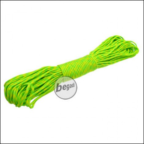 "BE-X Paracord ""Green-Yellow"", 550lbs, 30m"