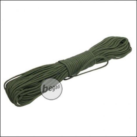 "BE-X Paracord ""OD green - solid"", 550lbs, 30m"