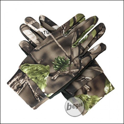 """BE-X Scharfschützen Handschuhe """"Natural Blind© 3D"""", grün - unisize"""