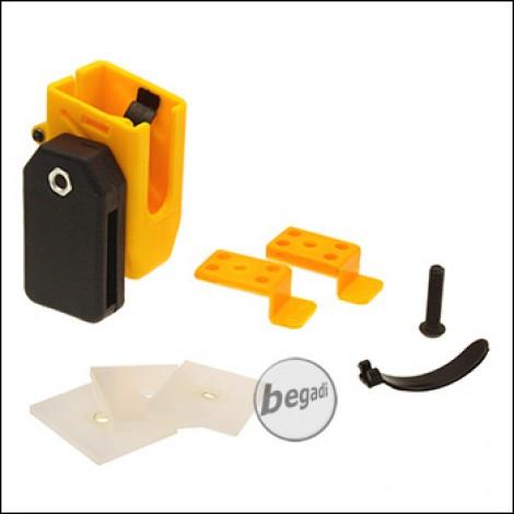 Begadi AIPSC Universal Magazinhalter aus Kunststoff -gelb-