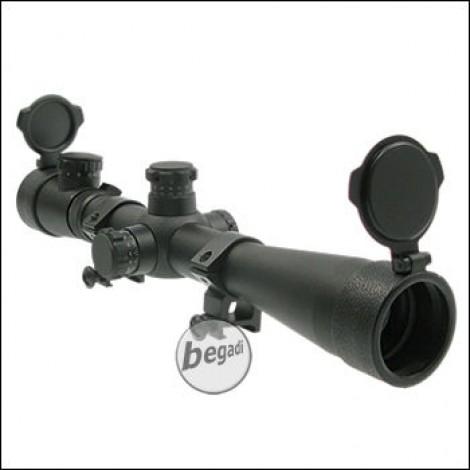 Zielfernrohr 3.5-10X40, mit bel. Absehen (rot/grün) - schwarz