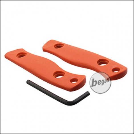 """BE-X Griffschalen Set für Outdoormesser """"Hersir"""" - orange (2 Stück)"""