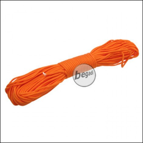 "BE-X Paracord ""Bright orange"", 550lbs, 30m"