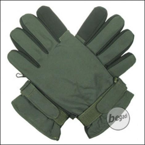BE-X Mikrofaser Handschuhe, kurze Stulpe, olive - Gr. XXL