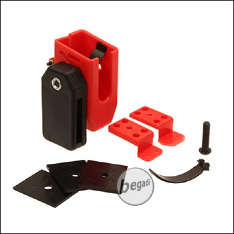 Begadi AIPSC Universal Magazinhalter aus Kunststoff -rot-