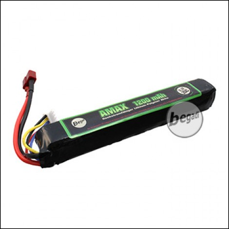 "Begadi ""AMAX"" LiPo Akku 11,1V 1200mAh 20C Single Stick mit Dean"