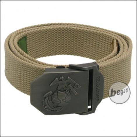USMC Gürtel, 40 mm, coyote