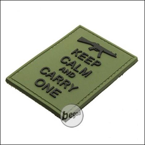 "BE-X 3D Abzeichen ""Carry an MP5"", aus Hartgummi, mit Klett - olive"
