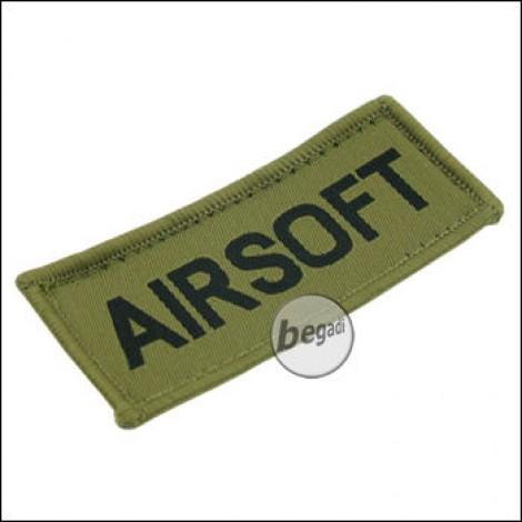 """Aufnäher """"Airsoft"""", neue Version - olive"""