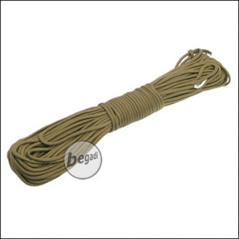 "BE-X Paracord ""Tan/Khaki - solid"", 550lbs, 30m"