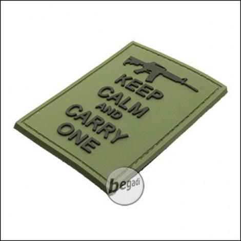 """BE-X 3D Abzeichen """"Carry an M4"""", aus Hartgummi, mit Klett - olive"""