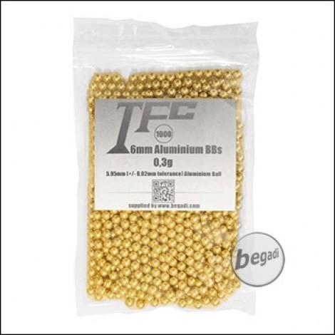1.000 TFC Alu BBs 6mm 0,30g - goldfarben