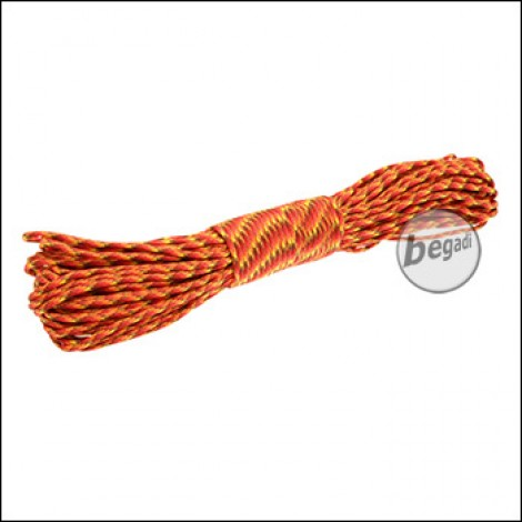 "BE-X Paracord ""Fire Digital"", 550lbs, 30m"