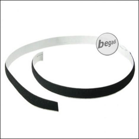 BE-X Selbstklebendes Klettband, 20mm, Länge: 1 Meter - schwarz
