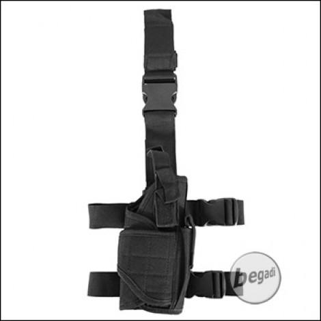 PHX Beinholster / Oberschenkel Holster, voll verstellbar - schwarz