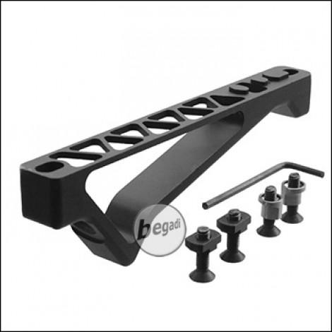 Begadi -CNC- Angled Fore Grip, Keymod & MLOK Version - schwarz