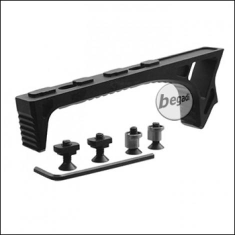 Begadi Curved Style Frontgriff, Keymod & MLOK Version - schwarz