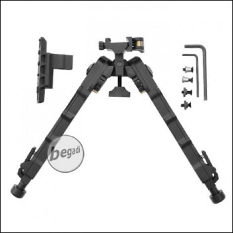 """Begadi """"Multi Pod"""" Zweibein / Bipod mit Picatinny, M-LOK & Keymod Montage -schwarz-"""
