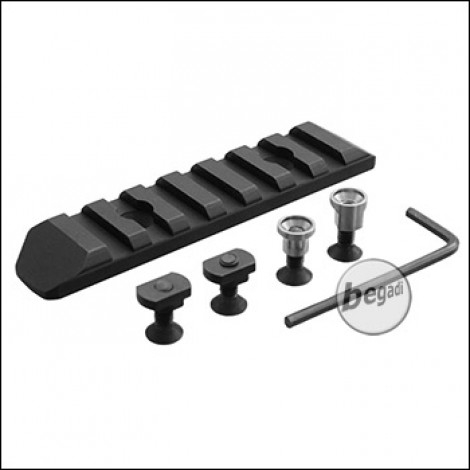Begadi M-LOK & Keymod 7 Slot Metall Rail -schwarz-