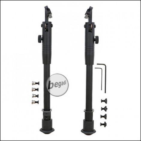 """Begadi """"Multi Purpose Sniper"""" Zweibein / Bipod, Sidemount Edition, für M-LOK & Keymod Systeme -schwarz-"""