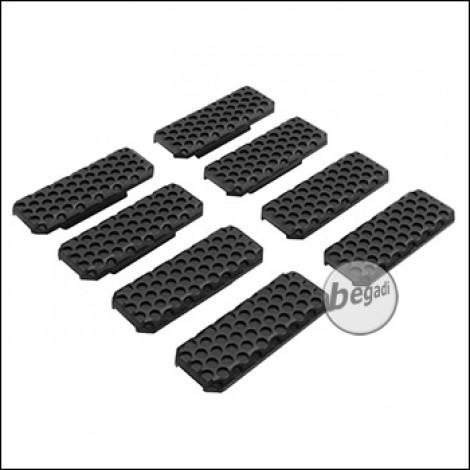 "Begadi M-LOK Rail Cover Set ""Type 3"", flach, 8 Stück  -schwarz-"