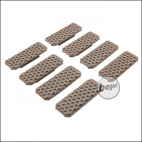 "Begadi M-LOK Rail Cover Set ""Type 3"", flach, 8 Stück  -TAN-"