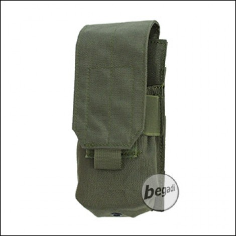 "BEGADI Basic Magazintasche ""M4 Single, geschlossen"" - olive"