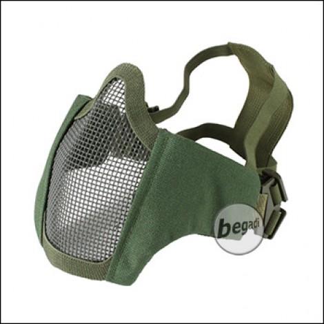 """Begadi """"FLEX"""" Gesichtsschutz Maske mit 2-Punkt Kopfband - olive"""