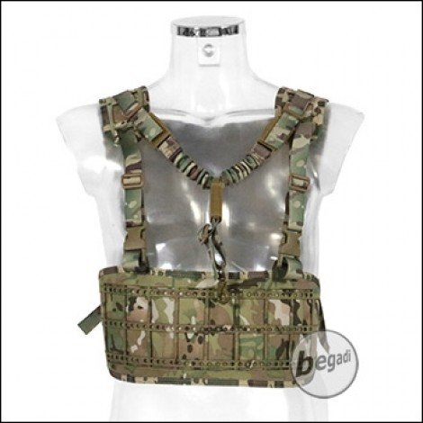 "Begadi Basic Chest Rig ""Recon Harness"" mit 1 Punkt Sling, Lasercut - multiterrain"