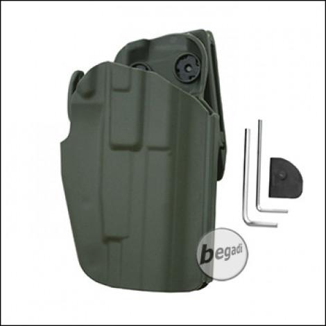 Begadi Basic Universal Hartschalen- Holster, voll verstellbar, für kleinere Pistolen -olive-