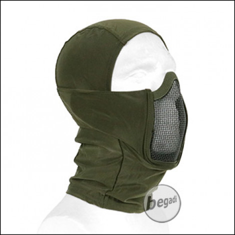 "Begadi Basic Schutzmaske ""Stealth"", mit Drahtgitter -olive-"