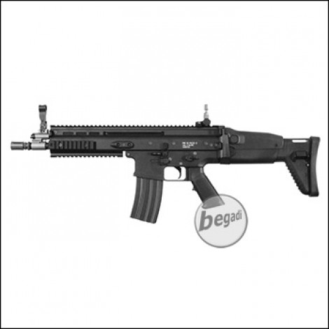 "WE MK16 Mod 0 10,5"" Upgrade Edition S-AEG mit Begadi CORE EFCS / Mosfet, schwarz (frei ab 18 J.)"