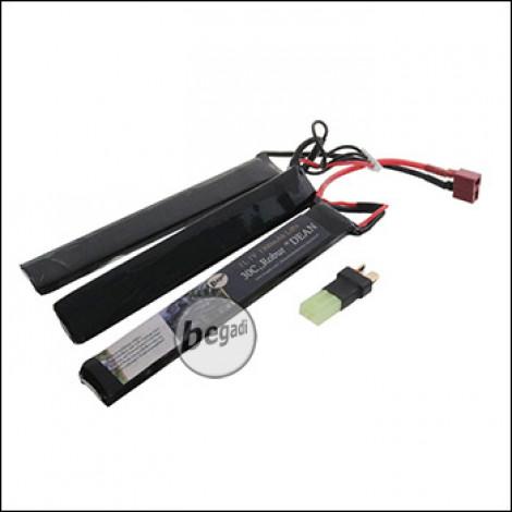 """Begadi LiPo Akku 11,1V 30C Triple Stick """"Robur 126/1300"""" mit Dean & Adapter auf Mini TAM"""