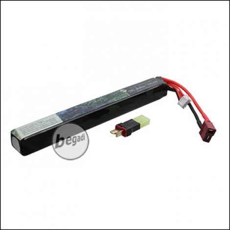 "Begadi LiPo Akku 11,1V 25C Single Stick ""Robur 11.1/165/1300"" mit Dean & Adapter auf Mini TAM"