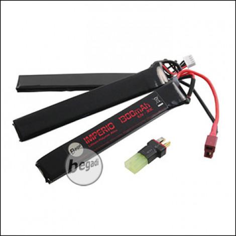 "Begadi ""IMPERIO"" LiPo Akku 11,1V 1300mAh 30C Triple Stick mit Dean & Adapter auf Mini TAM"