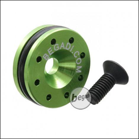 Begadi CNC Aluminium Pistonhead 15mm für WE GBB Modelle (1911, HiCapa) -grün-