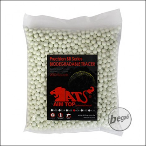 2.000 AIM TOP BIO TRACER BBs 6mm 0,28g -grün-