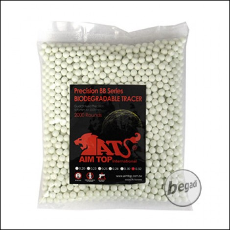 2.000 AIM TOP BIO TRACER BBs 6mm 0,32g -grün-