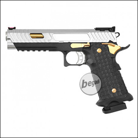 Army Armament R601 HiCapa GBB -Chrom / Gold Edition- (frei ab 18 J.)