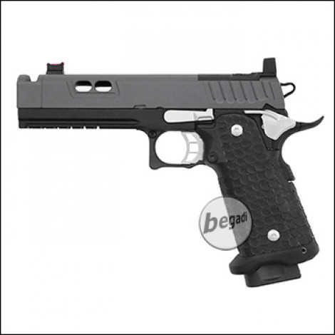 Army Armament R604 HiCapa GBB inkl. RedDot Mount -Cold Grey Edition- (frei ab 18 J.)