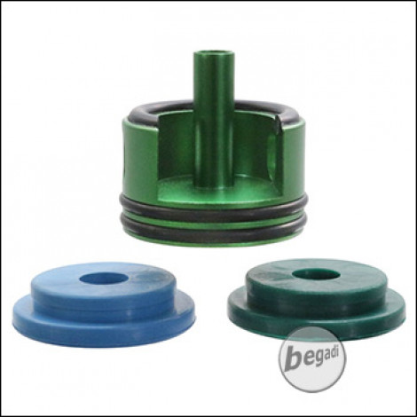 Begadi PRO V2 / V3 CNC Cylinderhead mit zwei O-Ringen und Sorbo Pads -grün- (Ref 1.1)