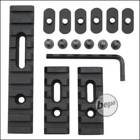 Begadi Alu Rail Set (regular), flexibel montierbar - 2x 55mm + 106mm (M5)
