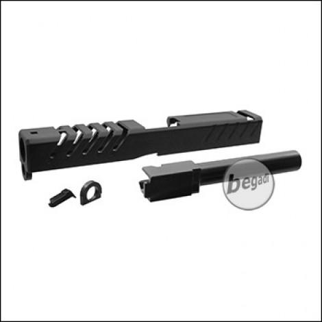 5KU CNC Schlitten & Outerbarrel Set für TM / WE / KJW G17 + KP-13 -schwarz- [GB-413-B]