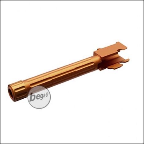 5KU Lightweight Outerbarrel mit Gewinde & Cover für TM / KJW / WE G17 -gold/orange- [GB-449-G]