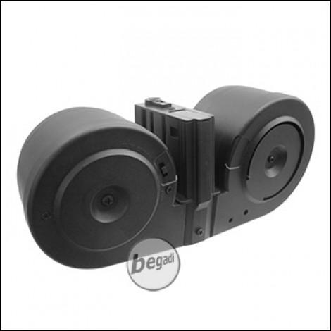 """A&K K25 / SR25 Elektro Drum Mag """"Dual Edition"""" (3000 BBs)"""